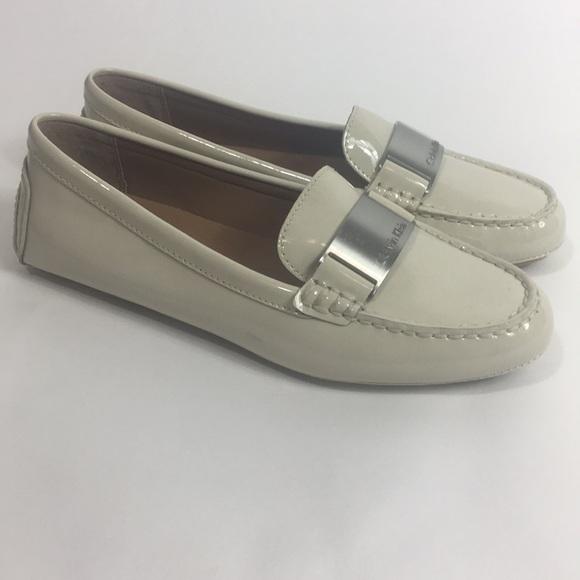 a42abca36d6 Calvin Klein Lisette White loafers NIB
